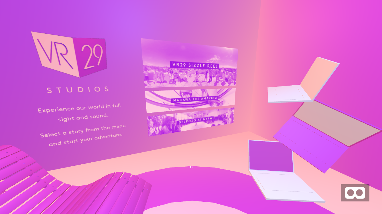 Refinery29 VR portal on mobile